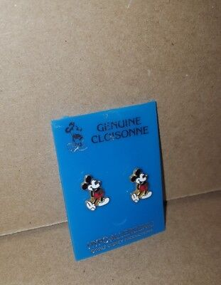 Mickey Mouse VINTAGE post Earrings genuine closionne Walt Disney productions