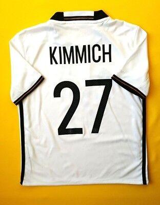 4b0eb9a386f 4.7 5 Kimmich Germany kids jersey 9-10 y. 2016 shirt AA0138 Adidas soccer  ig93
