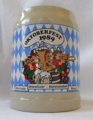 OKTOBERFEST 1989 GERMAN STONEWARE .5L BEER STEIN MUG