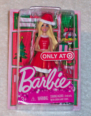 """Miniature CHRISTMAS HOLIDAY BARBIE Target Exclusive 2014 Mattel 4"""" Doll - New"""