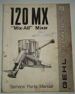 Gehl 120 Mix All Feed Grinder Mixer Parts Manual Catalog Book Original 1174