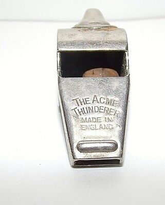 Vintage The Acme Thunderer Whistle  (made in England)  Works