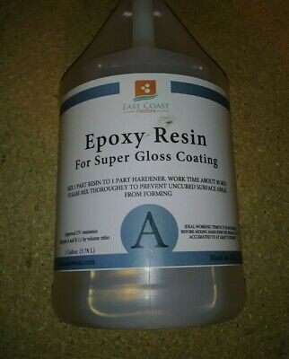 Epoxy Resin Crystal Clear 1 Gal. Super Gloss Coating And Tabletops Part A Only