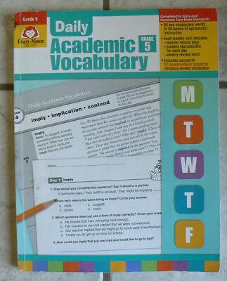 Evan-Moor Daily Academic Vocabulary, gr.5/5th #EMC 2761: 16 of 191pgs written on