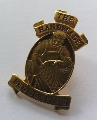 RARE PIN BADGE - THE HANDMADE BED COMPANY (FURNITURE MAKERS)