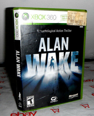 Alan Wake Xbox 360 Game, Manual, Case & Orig Box Stickers for sale  Shipping to India