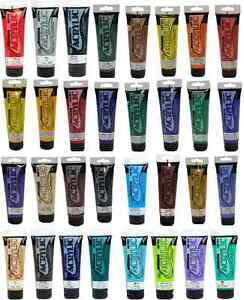 120ml-TUBES-OF-ARTISTS-QUALITY-ACRYLIC-CANVAS-MURAL-DECORATIVE-PAINT-33-COLOURS