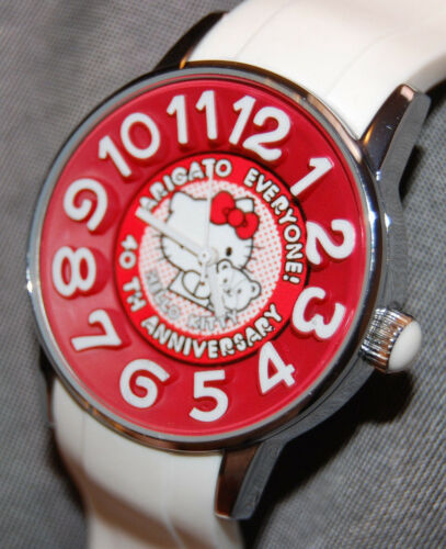 RARE! Hello Kitty AmonnLisa Watch 40th Anniversary White SANRIO JAPAN NEW BATT!