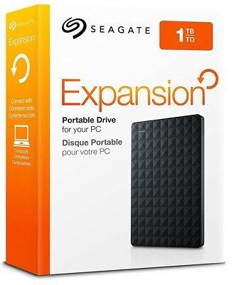(1TB - Seagate Expansion Portable External Hard Drive Disk USB 3.0 STEA1000400)