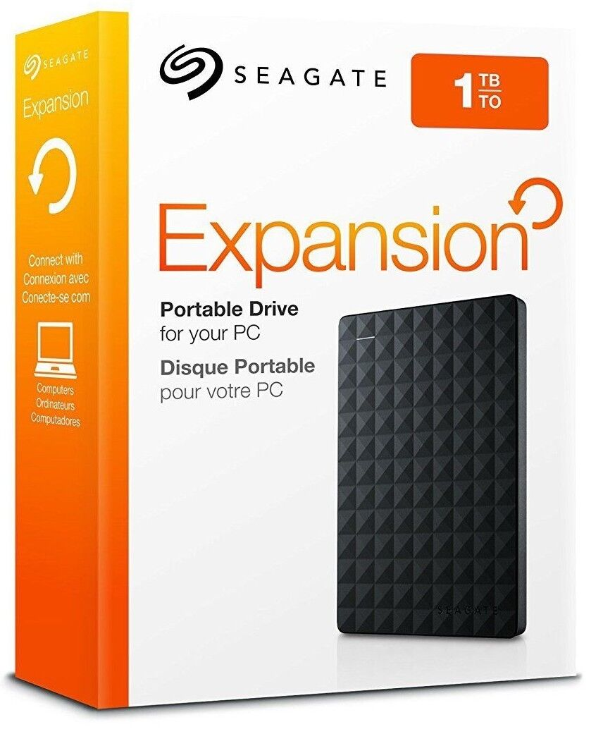 1TB - Seagate Expansion Portable External Hard Drive Disk US