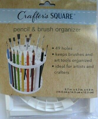 Crafter's Square Pencil & Paint Brush Organizer Paint Brushes 49 holes