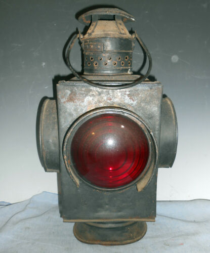 Early Tin Railroad Switch Light Lantern