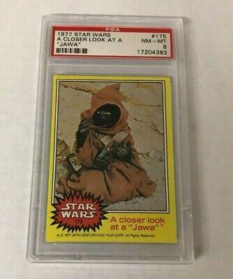 1977 Topps Star Wars A Closer Look At A Jawa #175 PSA 8 NM-MT