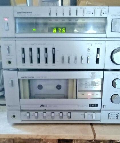 Sears Proformance Dual Cassette Deck Player integrated tuner amplifier Vintage