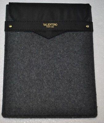 Valentino Parfums Grey Felt IPAD MINI Tablet Protector Case Pouch Bag PREOWNED Felt Ipad Mini