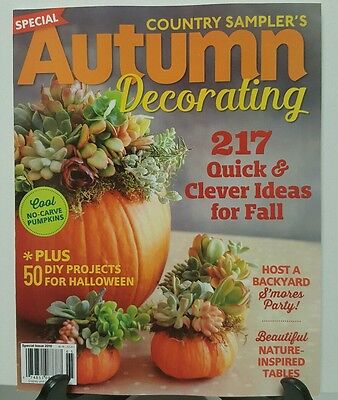 Country Samplers Autumn Decorating Clever Ideas for Fall 2016 FREE SHIPPING - Autumn Decorating Ideas
