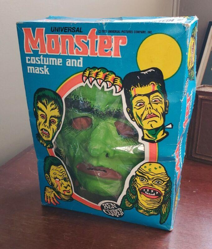 1973 Vintage Ben Cooper FRANKENSTEIN Monster Medium In Box Costume - Very Rare