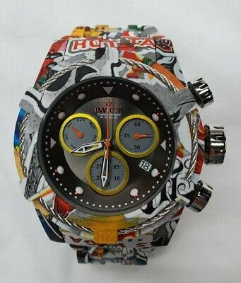 "Invicta Bolt Zeus Hydroplated Grafitti ""Las Vegas""  Men's Chronograph 30065"
