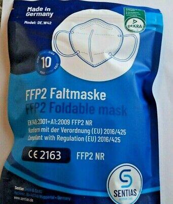 20 x FFP2 NR Atemschutz Maske Dekra geprüft CE EN149:2009 MADE IN GERMANY