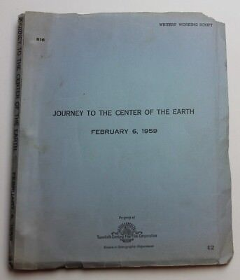 Journey to the Center of the Earth / Walter Reisch 1959 Movie Script Jules Verne