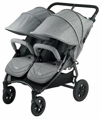 Valco Baby Neo Twin Lightweight All Terrain Twin Baby Double Stroller Grey Marle for sale  Whittier