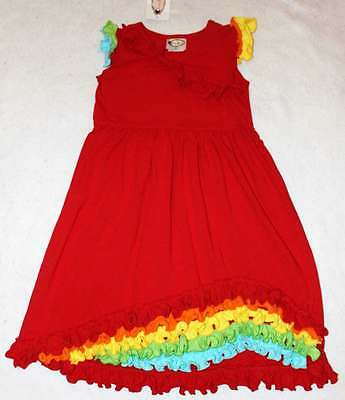 NWT Boutique Loves Me Not Clothing Red Knit Ruffle Dress 8 Yrs. (Love Me Not Clothing)