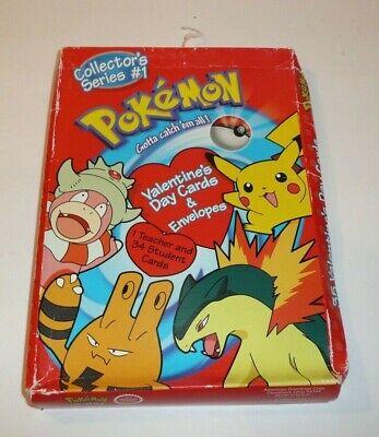 Valentine For Kids (Pokemon Valentine's Day Cards for Children School Vtg 2000 Pikachu)