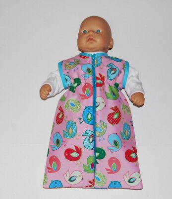 Puppenschlafsack,Vogel,für 36cm große Puppen z.B.my first Annabel Puppenkleider