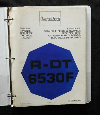 Genuine Landini R-dt 6530f Tractor Parts Catalog Manual Wbinder 160 Pgs Nice