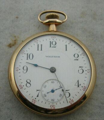 WALTHAM POCKET WATCH, 16S, 15J, GRADE 620, MODEL 1899, VINTAGE 1925, GP CASE