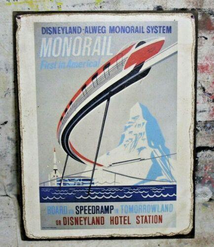 DISNEYLAND MONORAIL Handmade Disney World vintage sign