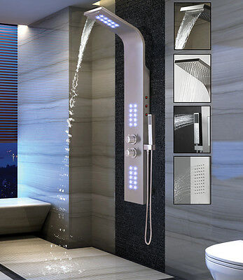 Duschpaneel mit LED Beleuchtung und SEDAL Thermostat