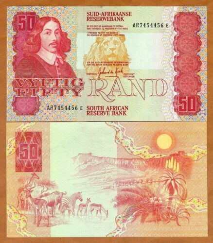 South Africa, 50 Rand ND (1984) P-122a, UNC > Lion