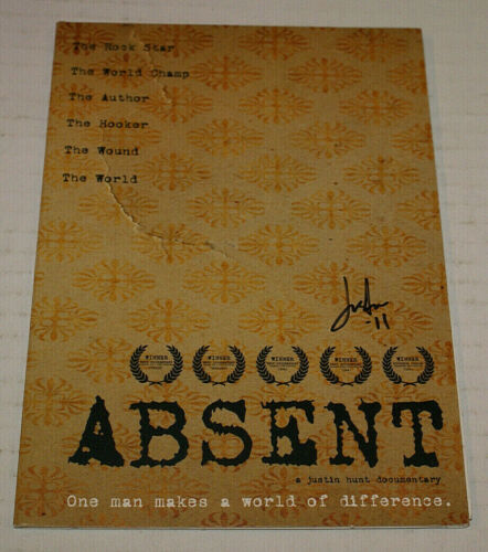 Absent Dvd Documentry W/ James Hetfield Autographed By Director Justin Hunt