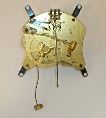 Antique Waterbury Brass Column Mantel Clock Movement / Mechanism (Untested)