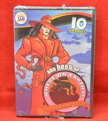 New Sealed The Best of Where on Earth is Carmen SanDiego Cookie Jar
