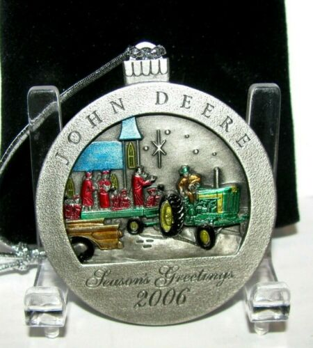 John Deere 720 Two Cylinder Tractor 2006 Christmas Pewter Ornament 11th Series