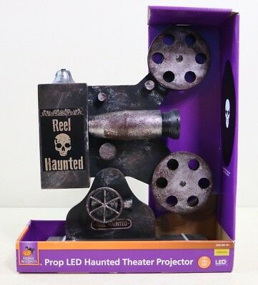 Animated Halloween Party Prop Antique Vintage Movie Projector Lights & Sounds - Animated Halloween Movies