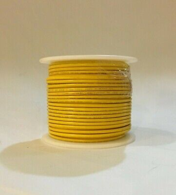 Remington 24 Awg Stranded Yellow 100 Ft Roll Pvc Ul1015 600 Volts Hook Up Wire
