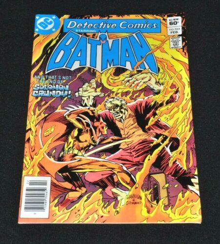 Detective Comics 523 Cameo Killer Croc Batman NEWSSTAND Variant Nice Copy 1983