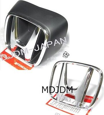 Hola,Oem 05-06 ACURA RSX Front + Rear Silver H Emblem Jdm Honda INTEGRA DC5 LOL