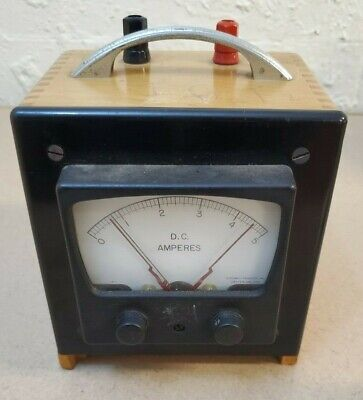 Dc Amperes Assembly Products Inc Analog Volt Meter Wooden Box 26v 400 Cycle Amp