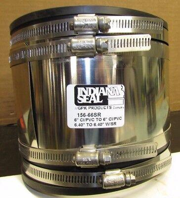 New 6x6 156-66sr Cipvc X Cipvc Flexible Pipe Coupling Connector W Shear Ring