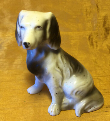 """Antique Made in Japan 4"""" Setter / Hunting Dog Weighted Porcelain Figurine"""