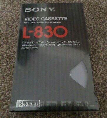 1 x Vintage Sony L-830 Betamax Blank Video Cassette SEALED! Retro RARE!!!