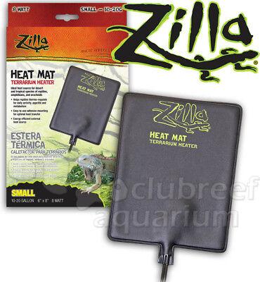 "Zilla Reptile Heat Mat Small Heating Pad 8 Watt 6"" x 8"" 10-20 Gallon"