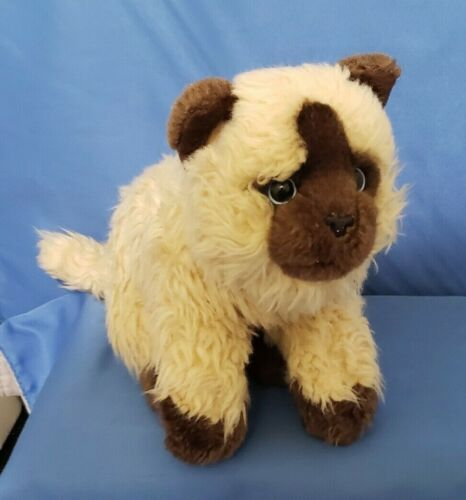 """2012 - Toys R Us Plush Siamese Himalayan Kitten Cat Blue Luminous Eyes Plush 9"""""""