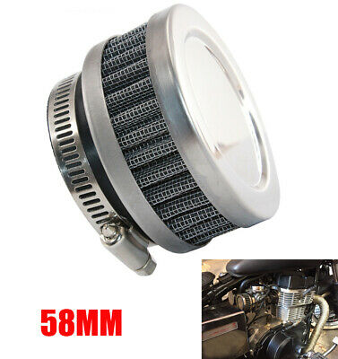 58mm Motorcycle Air Cleaner Intake Filter For Honda Yamaha Kawasaki BMW & Moped