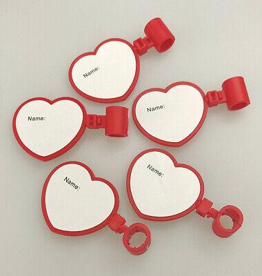 5 Pack Stethoscope Name Tag Heart Shape