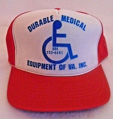 Vintage Durable Medical Equipment Trucker Mesh Snapback Hat Cap
